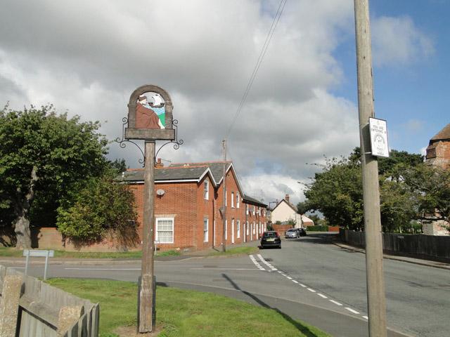 Village sign for Old Felixstowe