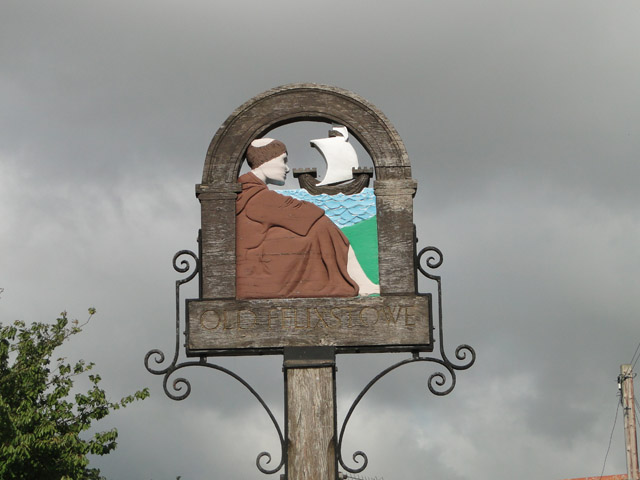 Village sign for Old Felixstowe