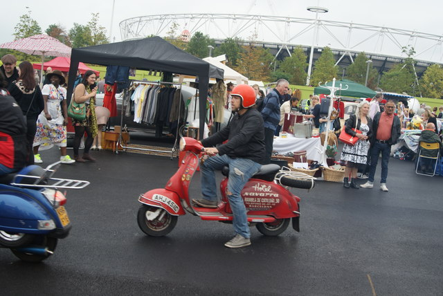 View of a Lambretta arriving from the Ace Cafe #2