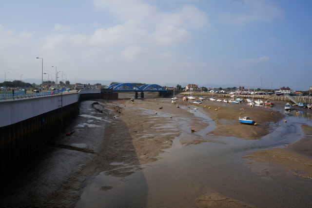 The River Clwyd, Rhyl