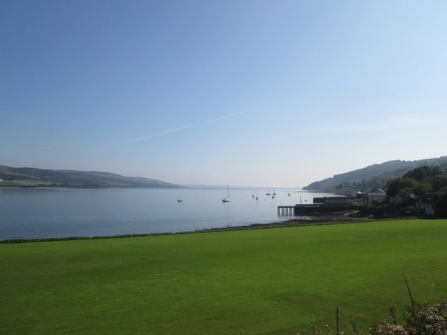 A view down the Kyles of Bute