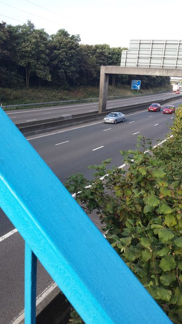 M61 view from footbridge