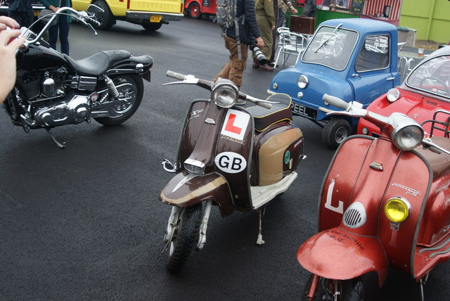 View of the final Lambretta in the Classic Car Boot Sale