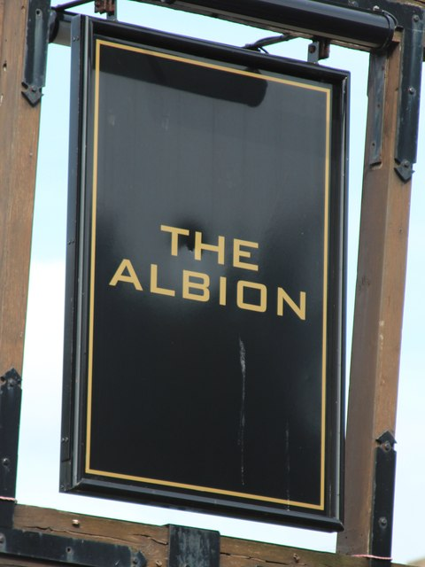 The Albion sign