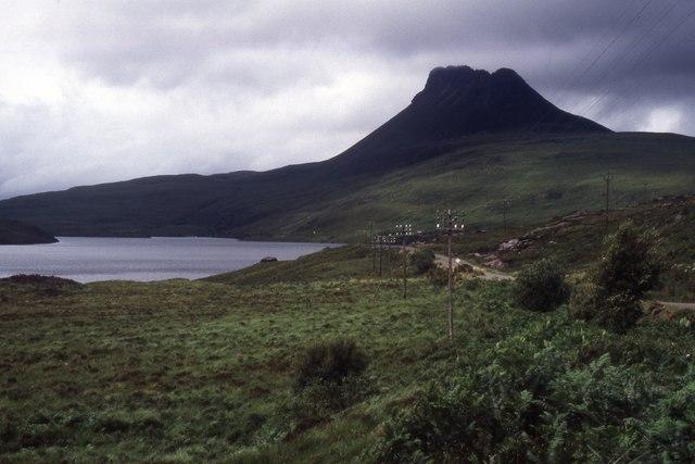 A835 and rough ground beside Loch Lurgainn