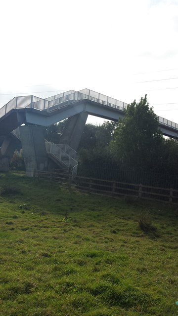 Far view of M61 footbridge