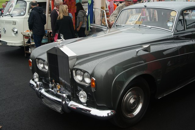 View of a Rolls Royce Phantom VI in the Classic Car Boot Sale