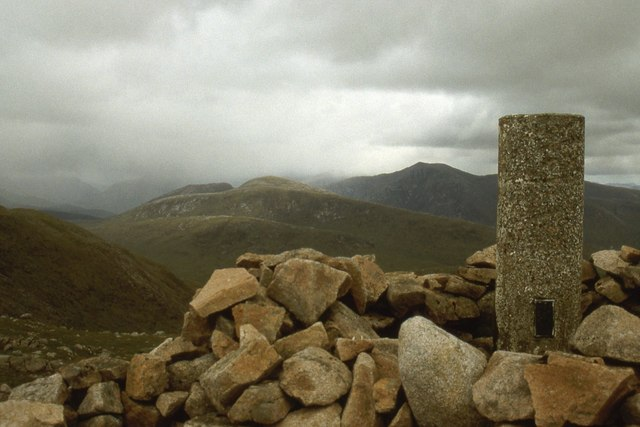 Summit Trig Pillar on Creach Bheinn