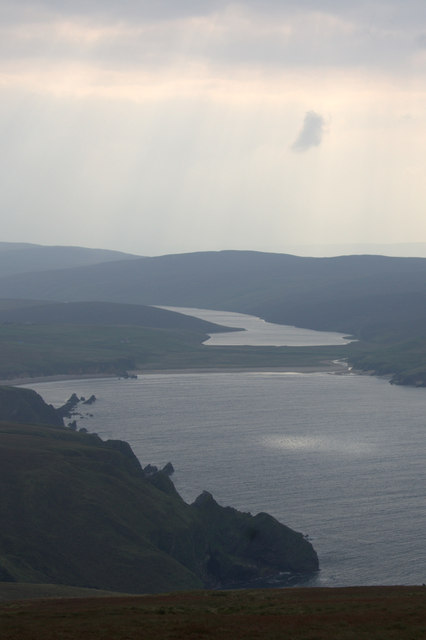 The head of Burra Firth from Saxa Vord