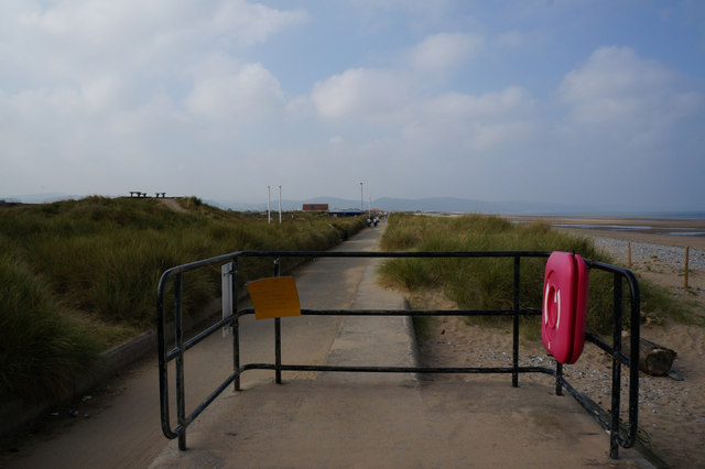 Wales  Coast Path at Kinmel Bay