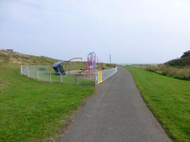 Play park beside the Spital Burn