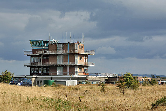 The control tower at Glasgow Prestwick Airport