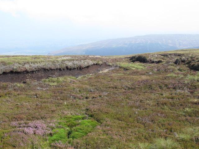 Peat haggs on the Tindale Fells