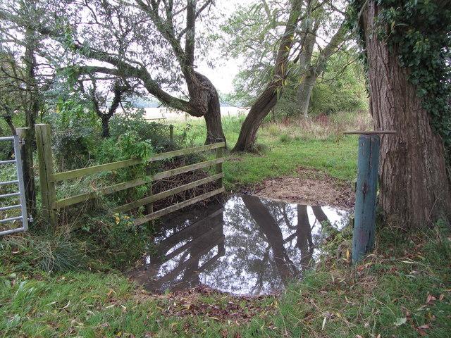 Field entrance near Pike Corner