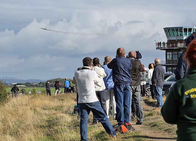 Aircraft enthusiasts at Glasgow Prestwick Airport