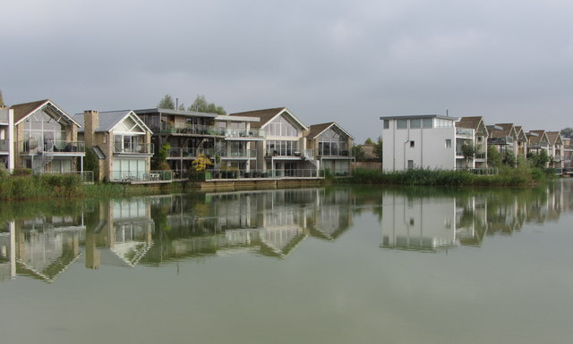 Houses around Howell's Mere on the Lower Mill Estate