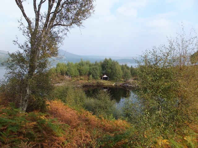 Boat house on Loch Luichart