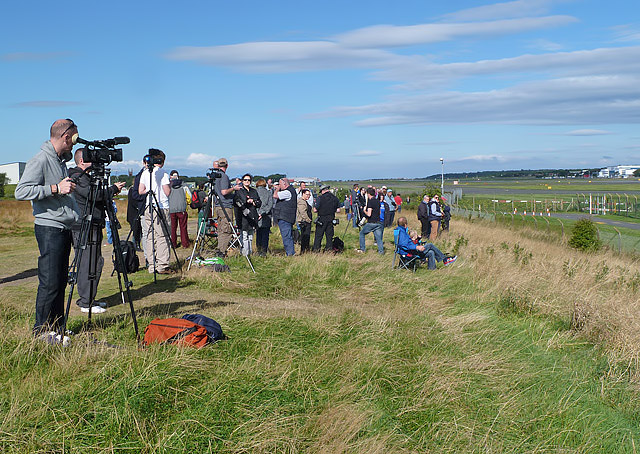 Aircraft enthusiasts at Prestwick Airport on Sunday 7th September 2014