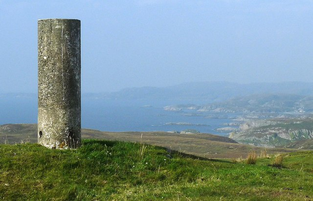 Triangulation pillar, Maol na Sgùrra, Isle of Mull