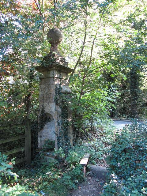 Gate pier of Manor House, Ashton Keynes