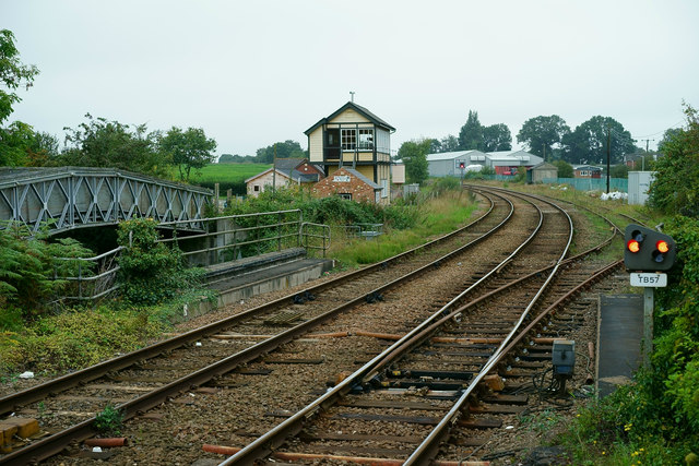 Looking North From Hoveton and Wroxham Station
