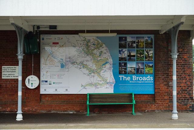 Display Board at Hoveton and Wroxham