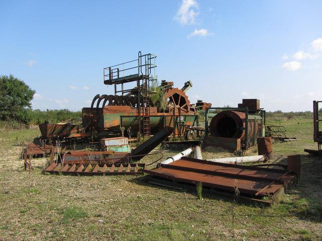 Old quarry equipment near Ashton Keynes