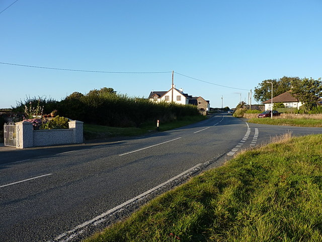 The B4341 Haverfordwest road through Broadway