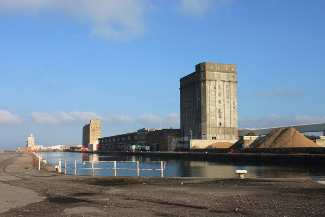 The old Ford grain mill in Avonmouth docks