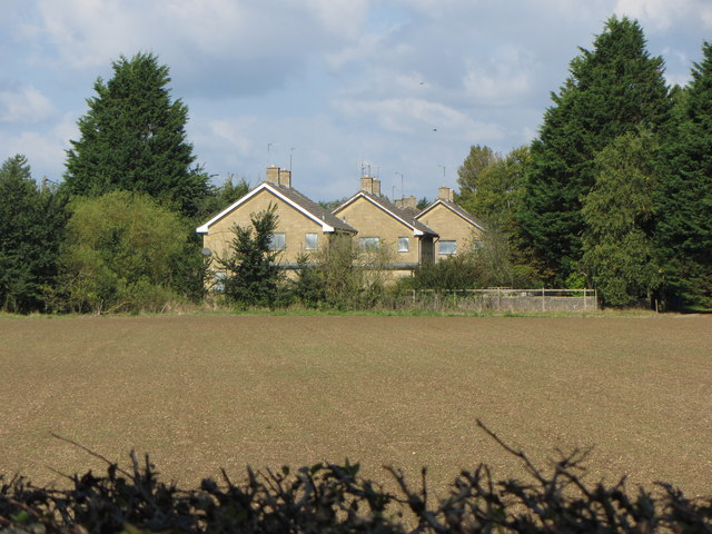 Boarded-up houses near the Cotswold Community