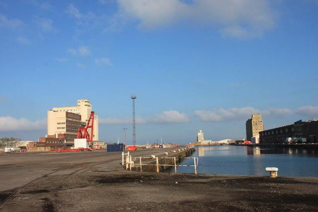 The flour mill in Avonmouth docks
