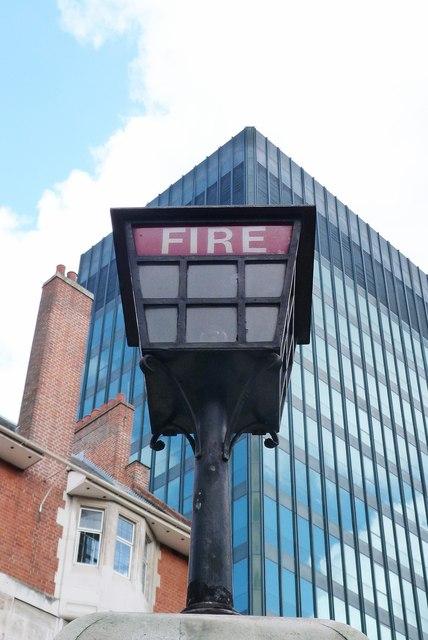 Fire station lamp, Euston
