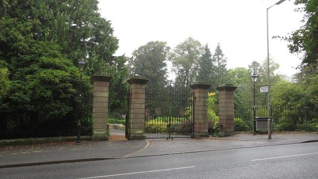 Entrance to Duns Public Park