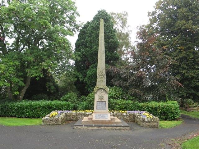 War Memorial, Duns Public Park