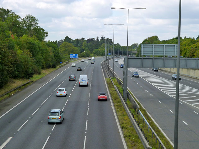 M40 just west of M25