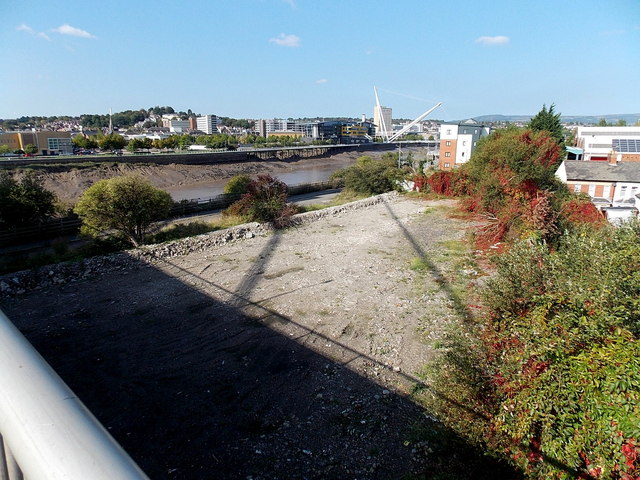 Vacant riverbank site in Newport