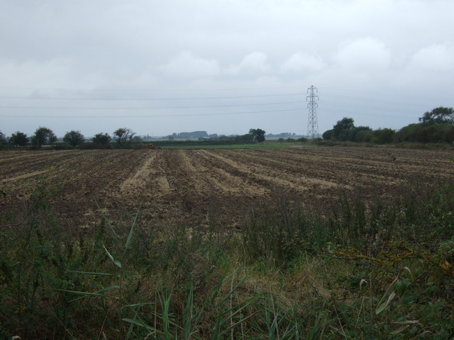 Farmland west of North Moor Lane