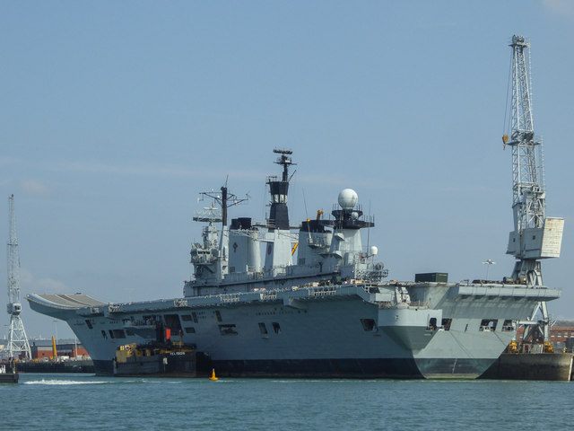 HMS Illustrious, Portsmouth Harbour, Portsmouth, Hampshire