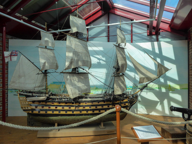 Model of HMS Victory at Explosion Museum of Naval Firepower, Gosport Hampshire