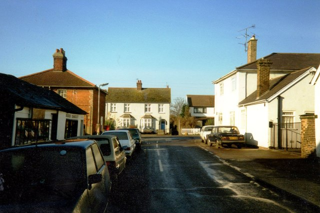 Crouch Road looking towards Station Road in Burnham-on-Crouch