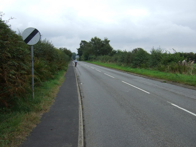 Brigg Road (B1400),  leaving Messingham
