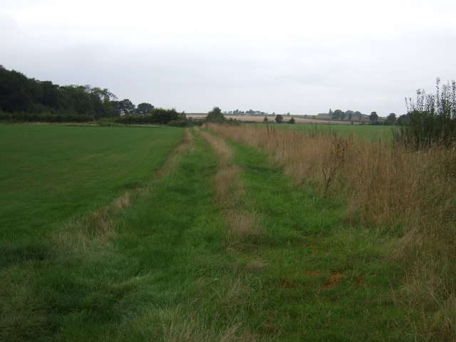Farm track beside drain