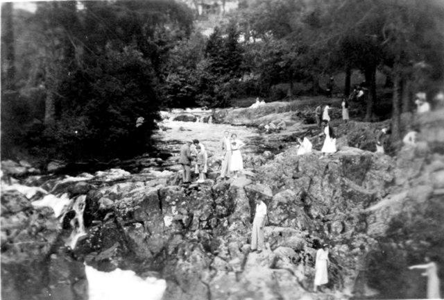 Pont y Pair Falls at Betws Y Coed