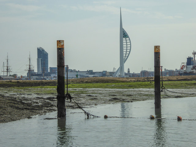 Spinnaker Tower from Burrow Island, Portsmouth Harbour, Portsmouth, Hampshire