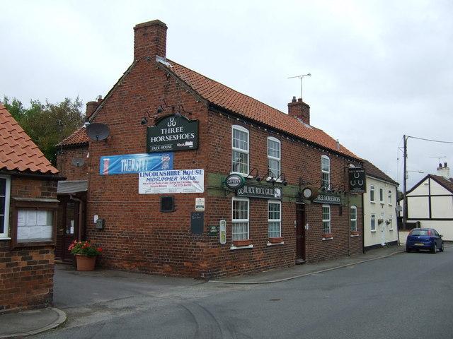 The Three Horseshoes pub, Scotton