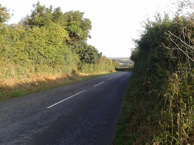 The B3314 heading north-west