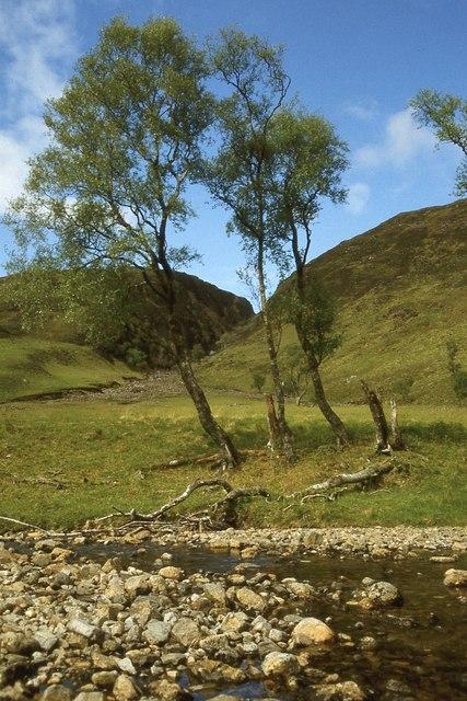Abhainn Teithil in Gleann Dubh