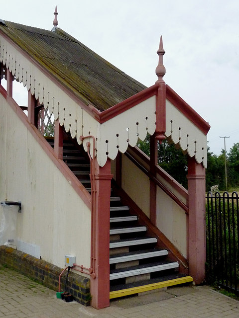 Station footbridge at Wilmcote, Warwickshire
