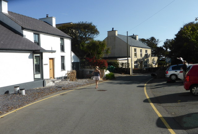 Street & parking area, Porth Llechog [Bull Bay]