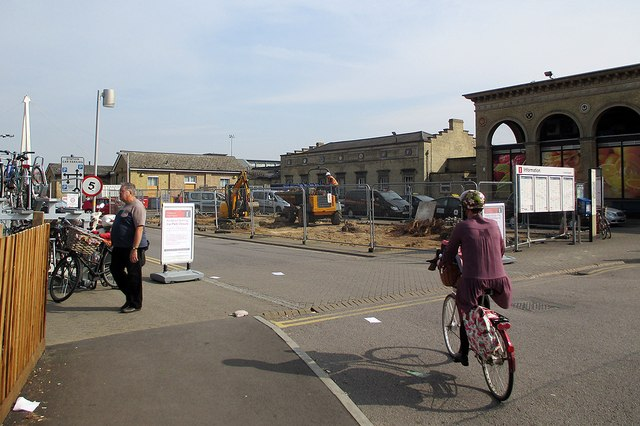 Changes outside Cambridge Station